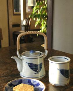 番茶セット@カフェ