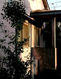 ハウスの玄関