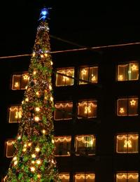 エイベックスのクリスマスイルミネーション