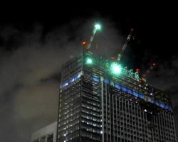 工事現場のライトアップ