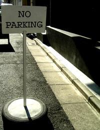 駐車禁止!