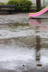 雨の午後の公園