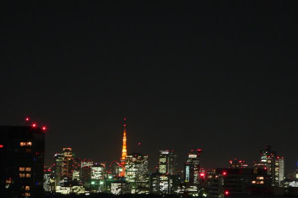 東京タワーの見える夜景