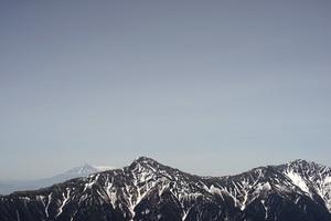 富士山、北岳、間ノ岳